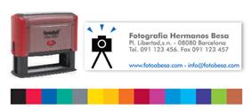 Sellos Caucho Printy 4925 Multicolor - Sello Printy 4925 Multicolor - Superficie de impresión: 82 x 25 mm, máximo 6 líneas. Impresión a color y elija entre más de 15 colores. Para hacer su pedido envienos por mail el texto a componer, colores y su logotipo, le enviamos un PDF con la muestra para su revisión. PLAZO DE ENTREGA: 3-4 dias.